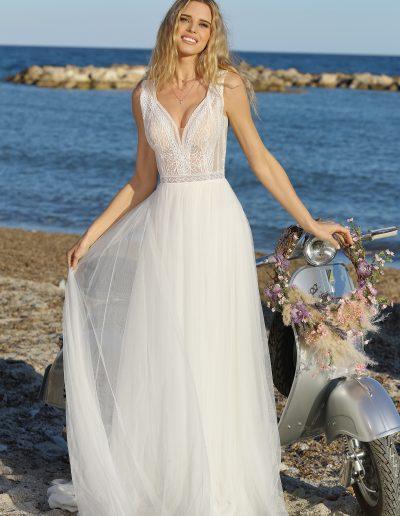 Leichtes, duftiges Brautkleid im Vintage Style